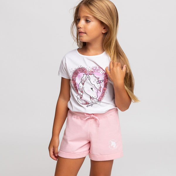 Girl's Pink Running Shorts