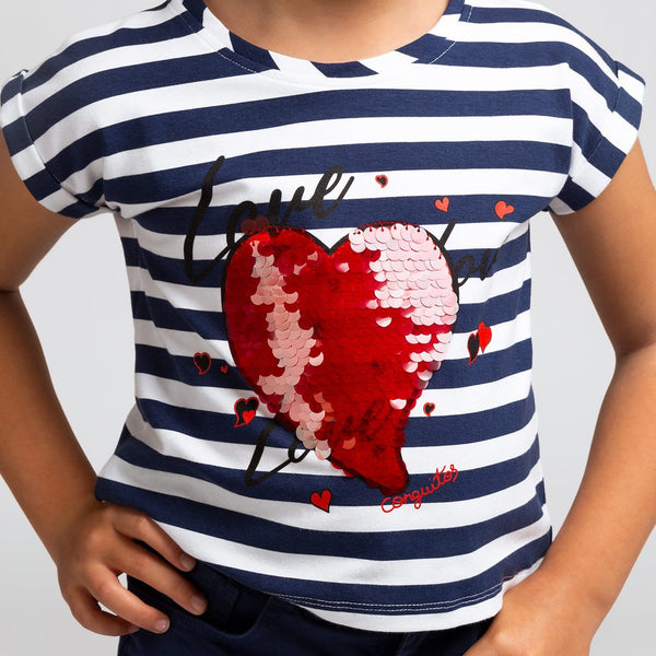Camiseta de Niña Love Marinera