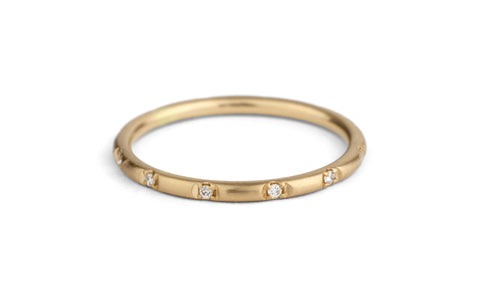 Duodecimal Band, rounded - diamond