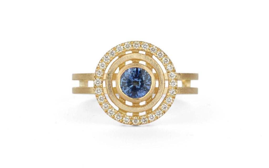 Blue Solar Ring - medium