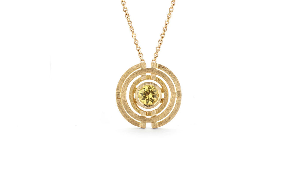 Four Circle Pendant - Yellow