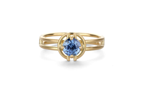 Blue Horizon Halo Ring - small