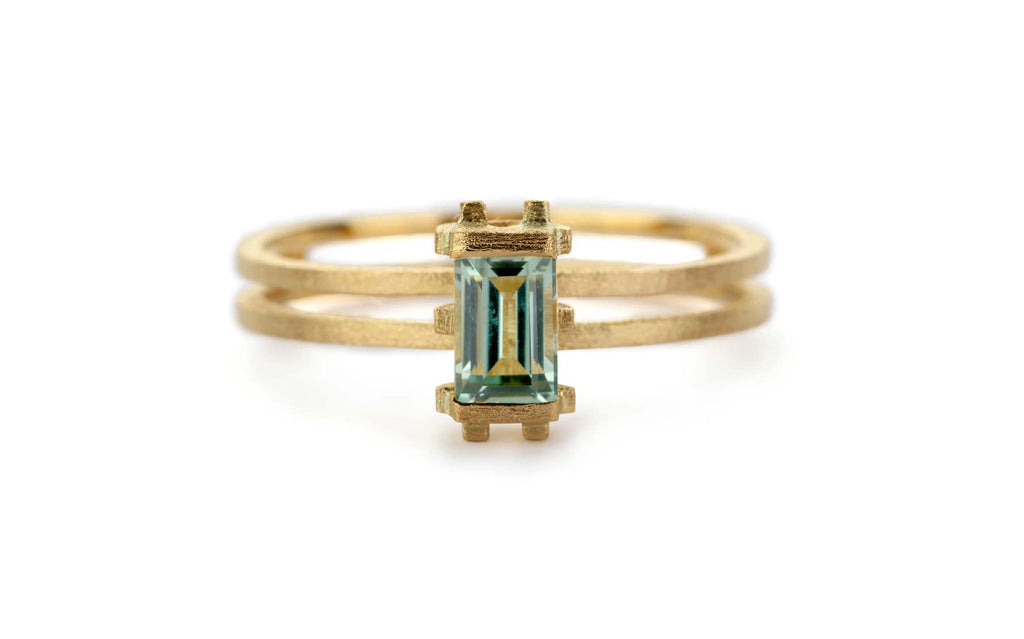 Mini Prism Ring - green