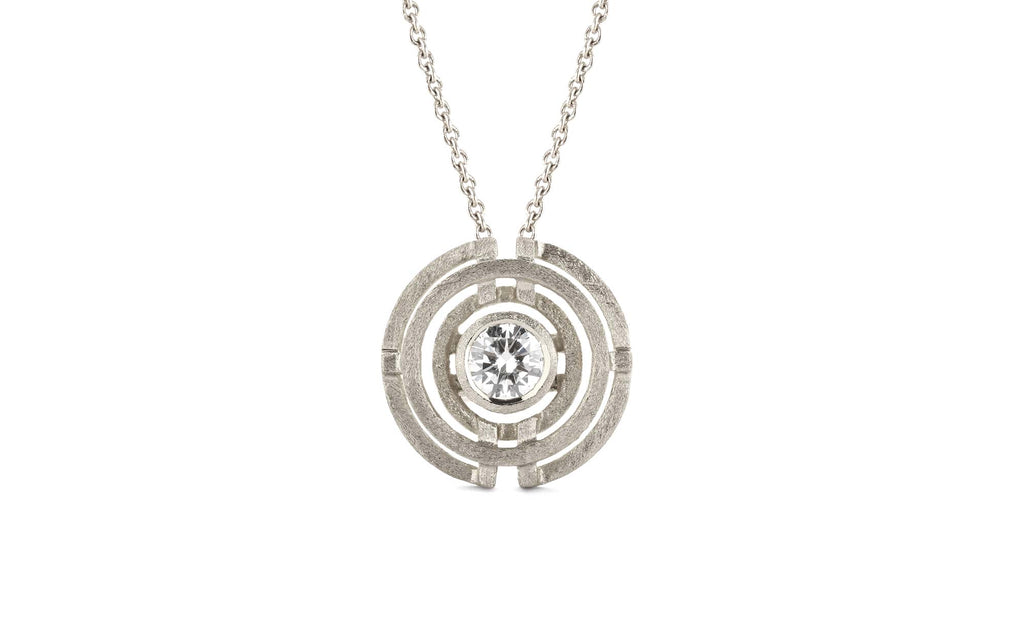 Four Circle Pendant - White Gold