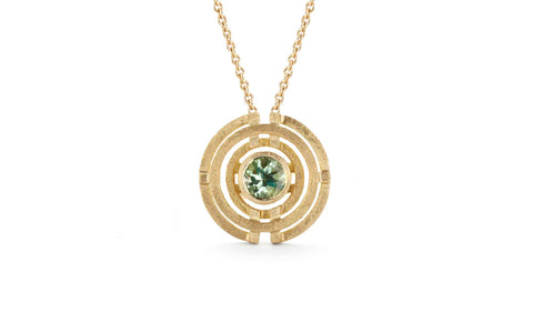 Four Circle Pendant - Green