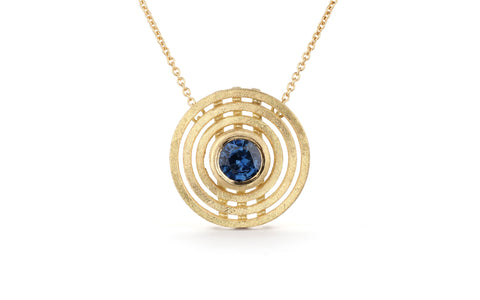 Blue Triple Nova Pendant, medium