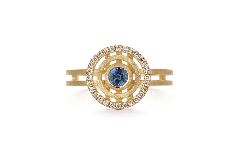 Deep Blue Mini Solar Ring