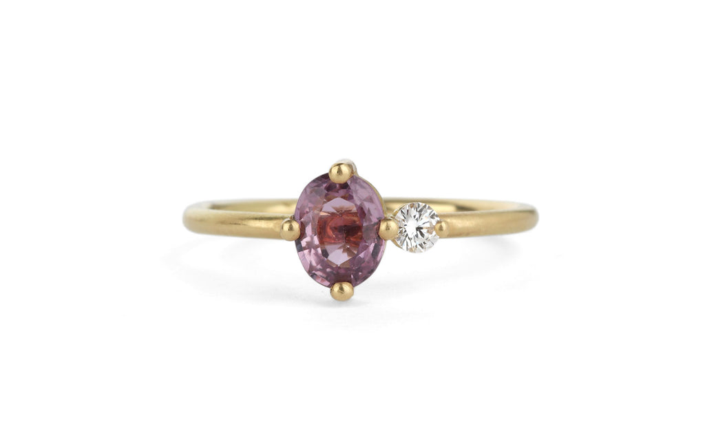 Oval Duo Ring - Dusty pink
