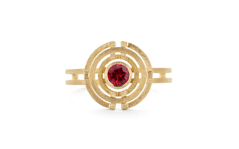 Four Circle Ring - ruby