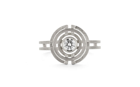 Four Circle Ring - white gold