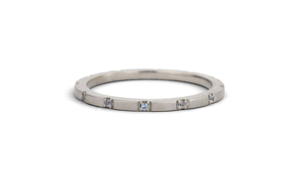 Duodecimal Band - light blue sapphire
