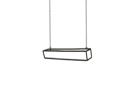 Black long cuboid necklace