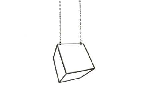 Black large cuboid necklace