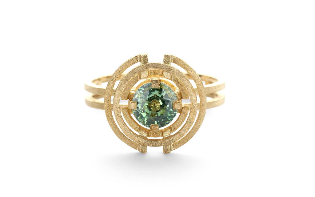 Green Compass Three Circle Ring