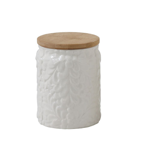 Flower Embossed Canister, Small