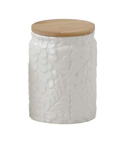 Flower Embossed Canister, Large