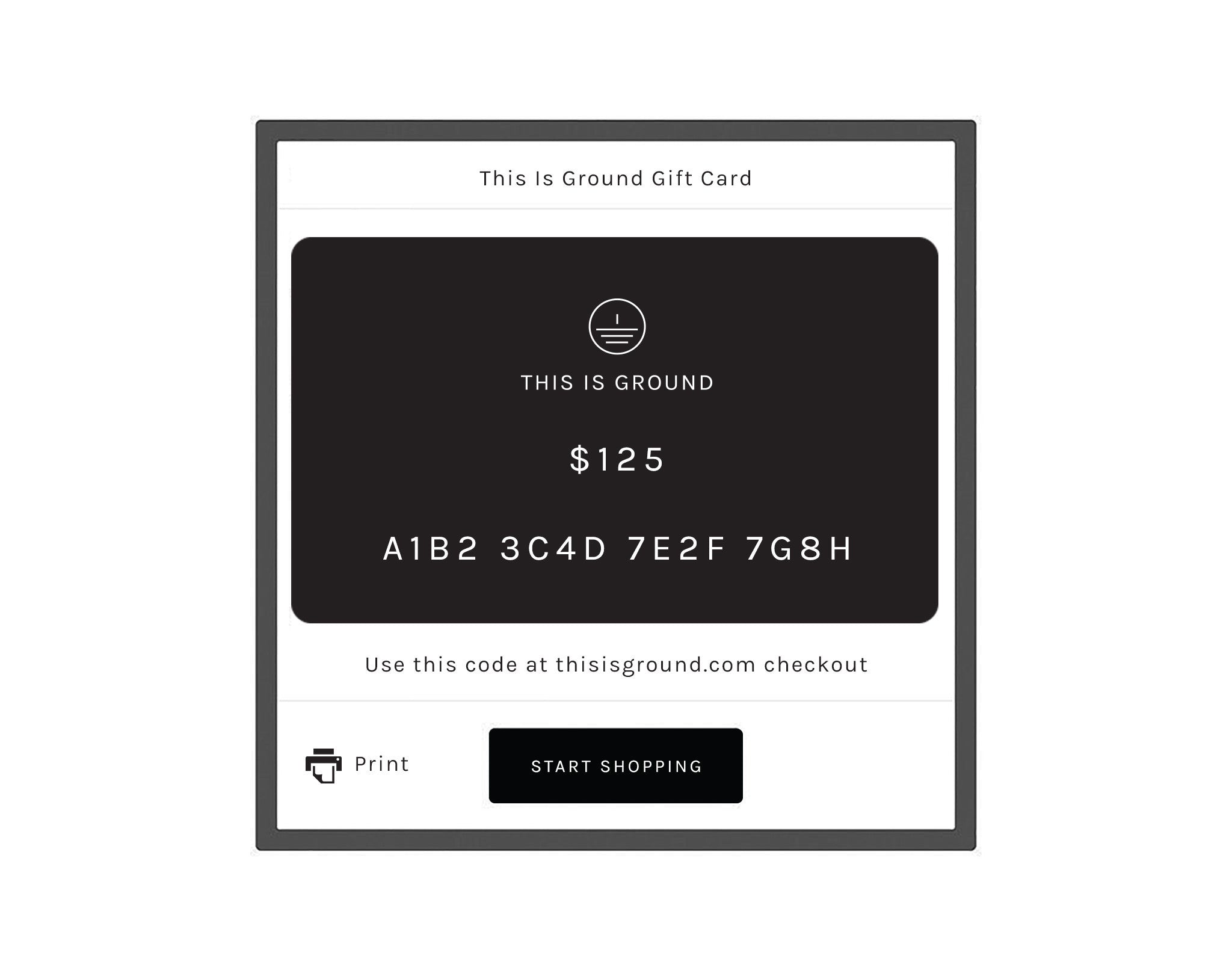 Gift Card for thisisground.com