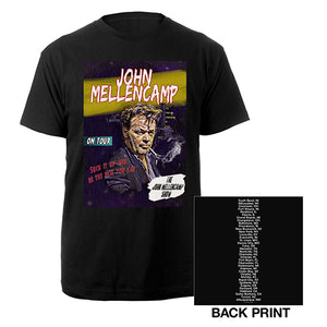 John Mellencamp Comic 2019 Tour Tee-John Mellencamp