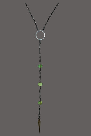 Lariat Yellow Green Quartz