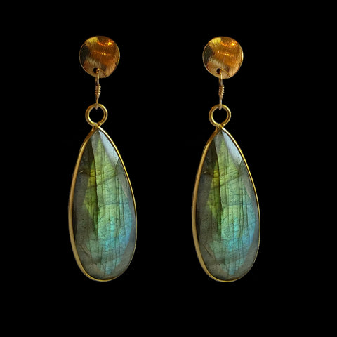Oblong Labradorite Drop