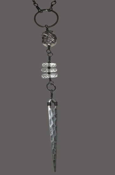 Silver Metal Spear with Quartz Tyres