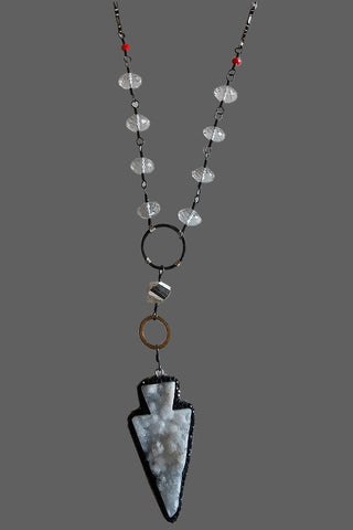 Marcasite Cased White Druzy Arrow
