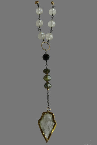Brass Cased Quartz Spear Drop