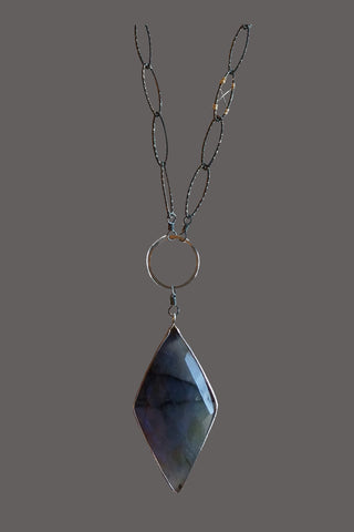 Diamond Shaped Labradorite