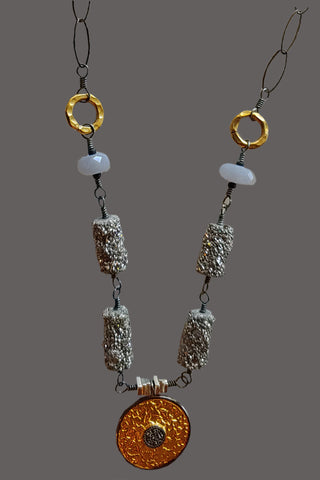 Vermeil Pendant with White Topaz