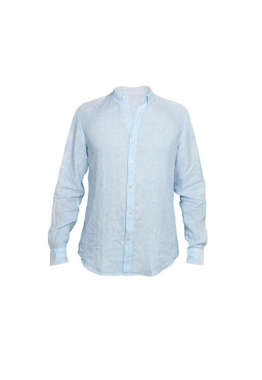 Blue stripes linen shirt