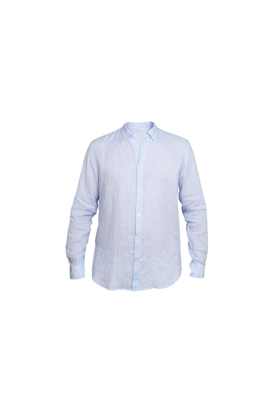 Faros Light Blue Linen Shirt - FAROS LINEN