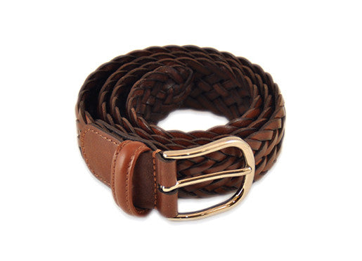 Anderson's Brown Leather Braided Belt
