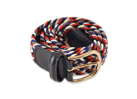Anderson's Woven Belt - Red, Blue & White
