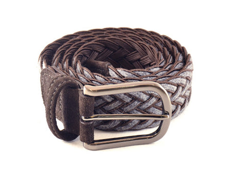 Anderson's Braided Grey & Brown Belt