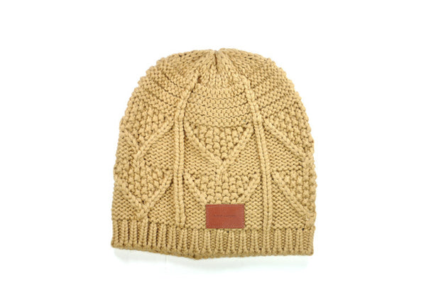 Bickley+Mitchell Pattern Knit Hat - Cinnamon