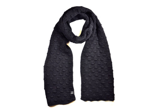 Bickley+Mitchell Texture Knit Scarf - Black