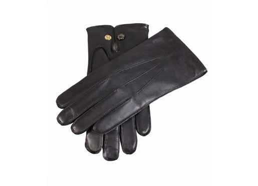 Dents Hairsheep Leather Men's Gloves with Studded Palm Vent - Black
