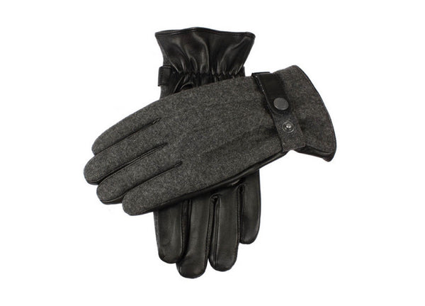Dents Grey & Black Men's Gloves