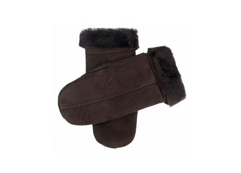 Dents Dark Brown Sheepskin Mittens