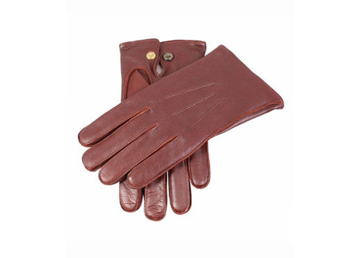 Dents Hairsheep Leather Men's Gloves with Studded Palm Vent - English Tan