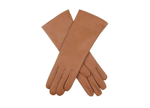 Dents Cashmere Lined Long Women's Leather Gloves - Tan