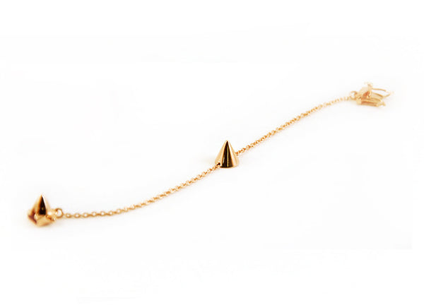 Eddie Borgo Single Cone Bracelet - Rose Gold