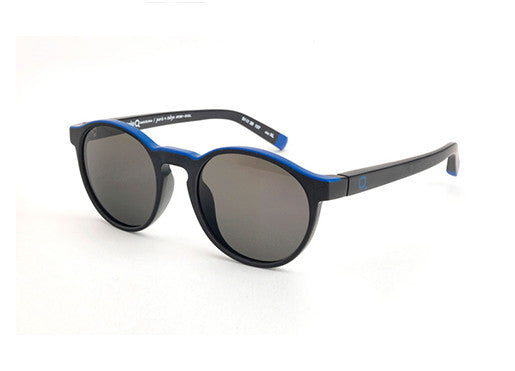 Etnia Keyhole Sunglasses - Black & Blue (Polarized)