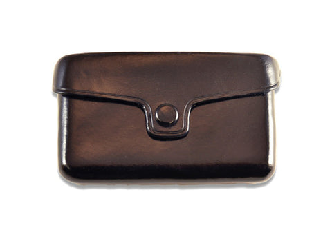 Il Bussetto Button Card Holder - Black