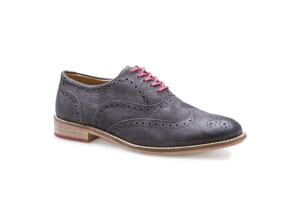 J Shoes Charlie Women's Brogues - Grey