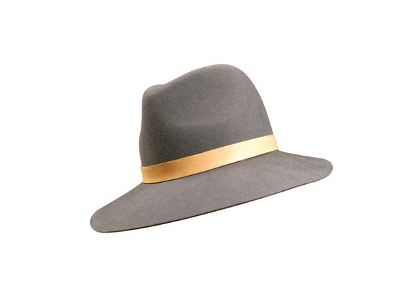 Janessa Leone Lucy Hat with Tan Lambskin Band