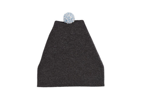 Jo Gordon Speckled Pompom Ski Hat - Charcoal