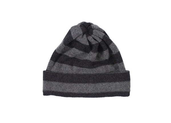 Jo Gordon Stripe Hat - Charcoal & Derby