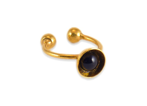 Madame Reve Black & Gold Ring