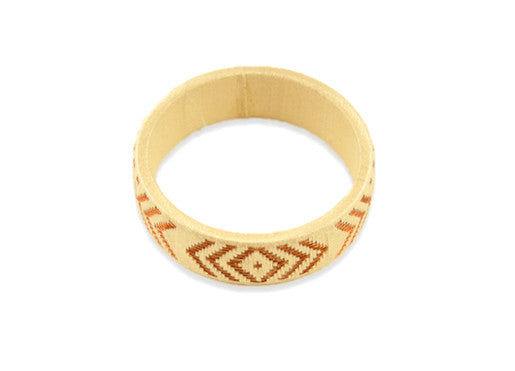 Mercedes Salazar Thread & Cana Flecha Bracelet - White & Brass